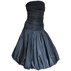 1980s Giorgio Sant 'Angelo Strapless Dress With Bubble Skirt
