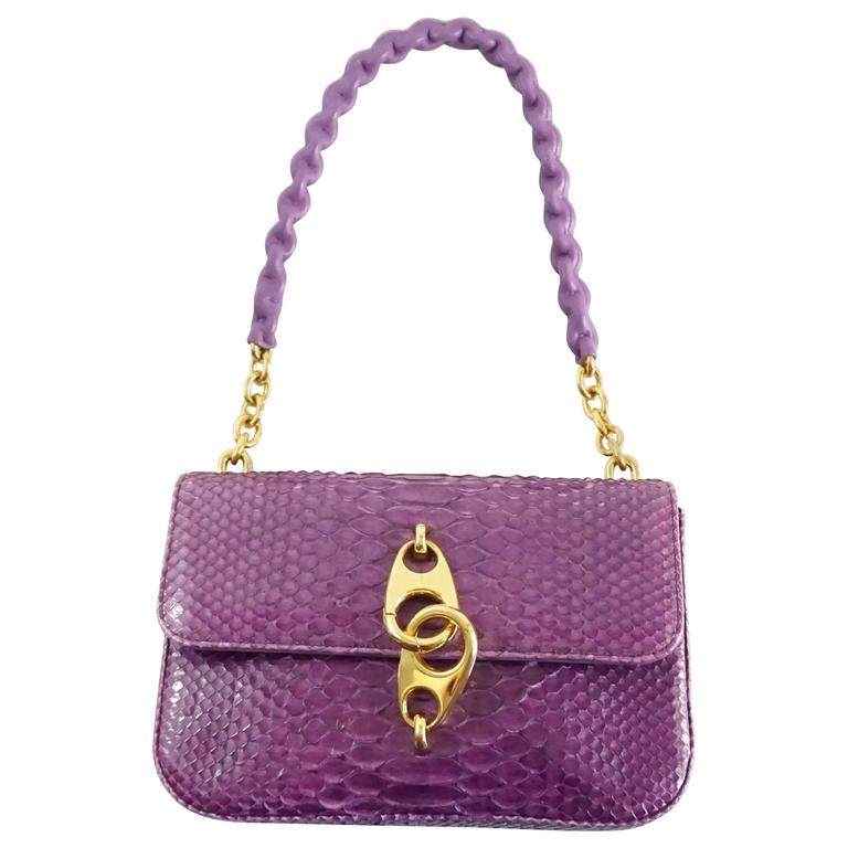 Tom Ford Purple Python Carine Shouder Bag  1