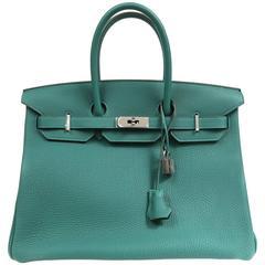 Hermès Malachite Togo 35 cm Birkin PHW