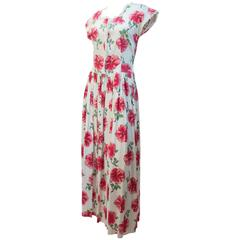 40s Floral Printed Day Dress