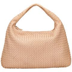 Bottega Veneta Pink Intrecciato Hobo Bag