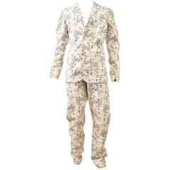 Vivienne Westwood Anglomania x Lee Jeans White Floral Pattern Suit