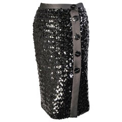 Yves Saint Laurent Sequin Skirt