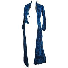 Victorian Blue Silk Velvet Jacket