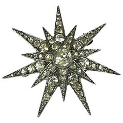 Edwardian Paste Starburst Brooch