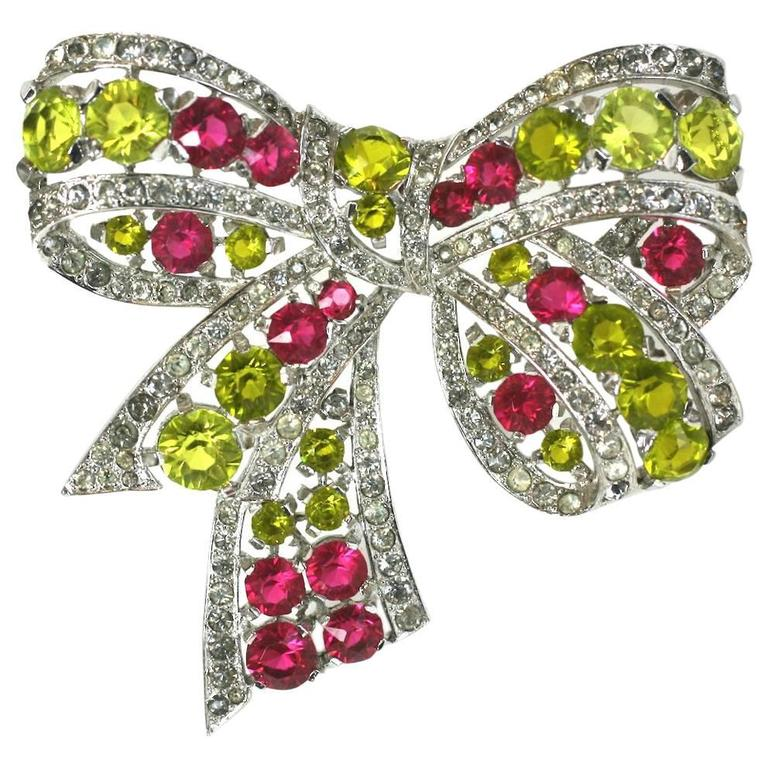 Exceptional Marcel Boucher Art Deco Bow Brooch For Sale
