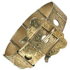 Victorian Etched Buckle Bracelet