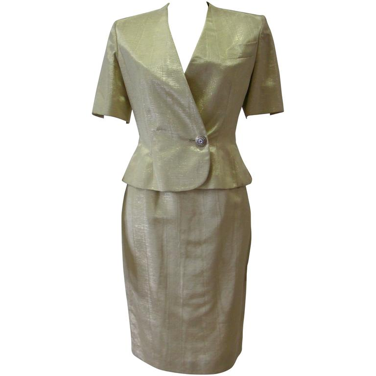 Jean-Louis Scherrer Lurex Skirt Suit