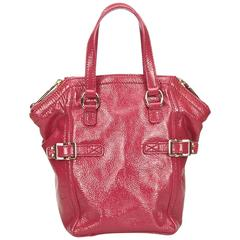 YSL Patent Leather Mini Downtown Hand Bag
