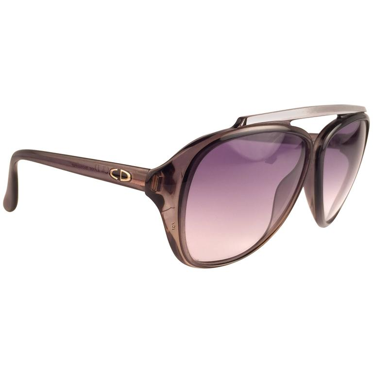 New Vintage Christian Dior Monsieur 2059 11 Optyl Blue Gradient 1970 Sunglasses