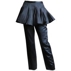 1990s Valentino Boutique Silk Pants With Peplum