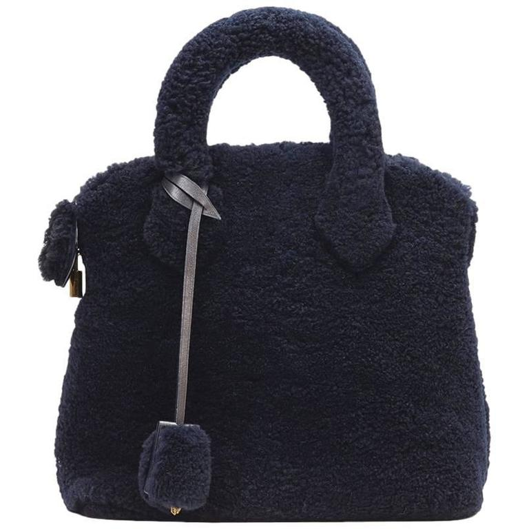 2010s Louis Vuitton Marine Shearling Lockit Pulsion