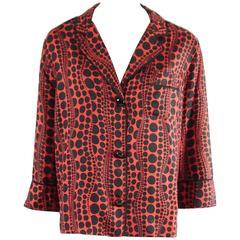 Louis Vuitton Yayoi Kusama Red and Black Printed Shirt - 36