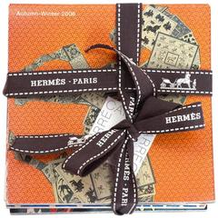 Hermes Set of Seven Scarf Booklets w. Shopping Bag