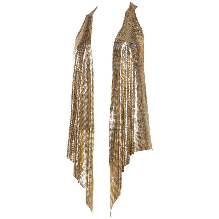 Slinky Gold Metal Mesh Vest For Sale
