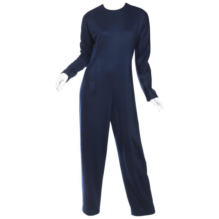 Geoffrey Beene Wool Jumpsuit Lined in Silk