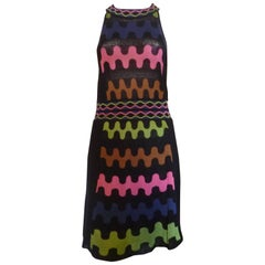 M. Missoni High-Necked Fine Knit Dress (44 Itl)