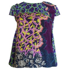 Peter Pilotto Marine Printed Silk Top