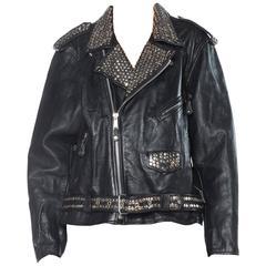 Studded Punk Leather Biker Jacket