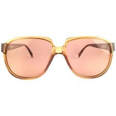 New Vintage Christian Dior Monsieur 2260 12 Optyl Amber 1970 Sunglasses