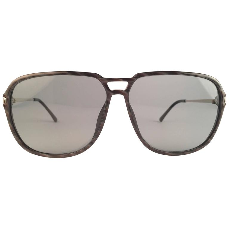 New Vintage Christian Dior Monsieur 2296 90 Optyl Black & White 1970 Sunglasses