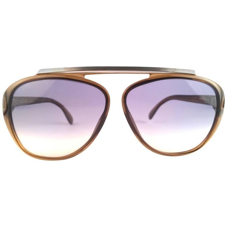 f47c83a0fd0 New Vintage Christian Dior Monsieur 2059 20 Blue Gradient 1970 Sunglasses  For Sale