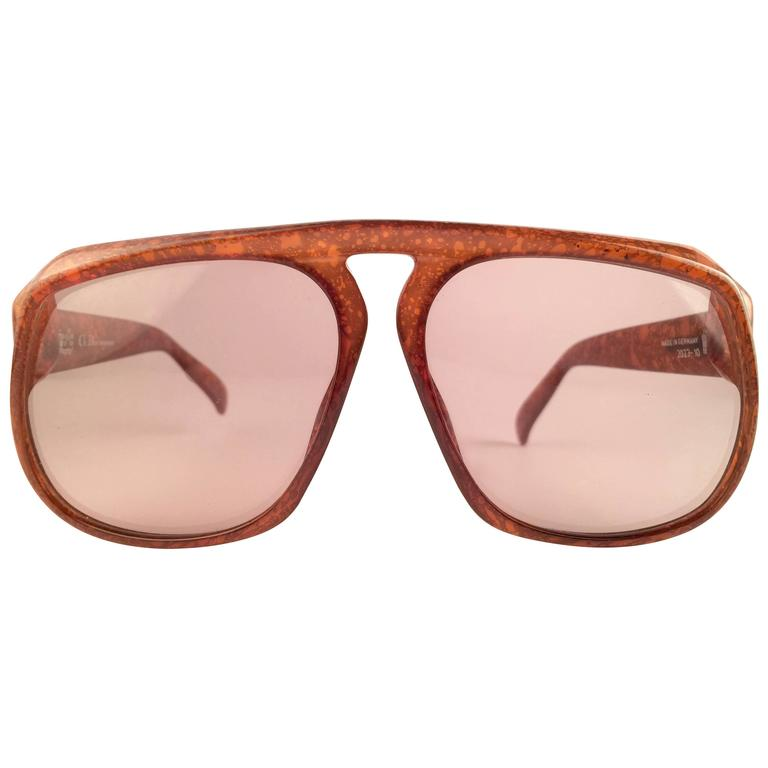 b7c9a8365a New Vintage Christian Dior Monsieur 2023 10 Oversized Optyl 1970 Sunglasses  at 1stdibs