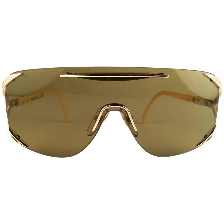 New Vintage Christian Dior 2434 47 Shield Optyl 1970 Sunglasses 1