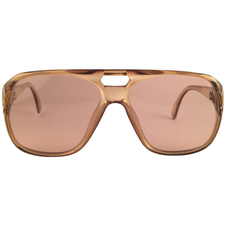 New Vintage Christian Dior Monsieur 2055 20 Light Green Optyl 1970 Sunglasses 1