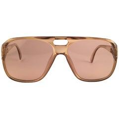 New Vintage Christian Dior Monsieur 2055 20 Light Green Optyl 1970 Sunglasses