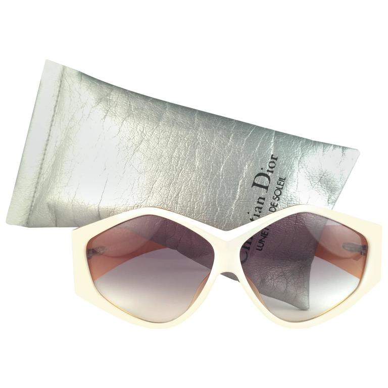 New Vintage Christian Dior 2230 70 White Origami Optyl Sunglasses Germany