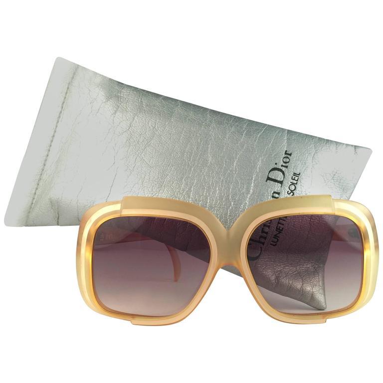 New Vintage Christian Dior 2042 70 Yellow Matte Optyl Sunglasses Austria  For Sale a325f845c21e
