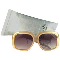 New Vintage Christian Dior 2042 70 Yellow Matte Optyl Sunglasses Austria