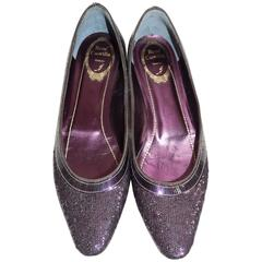Rene Caovilla Pailletes Embellished Ballet Shoes New In Box