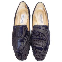 Jimmy Choo Brocade Lasered Pony Hair Espadrilles