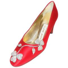 RED Helene Arpels   Couture jeweled shoes - masterpiece for your feeet