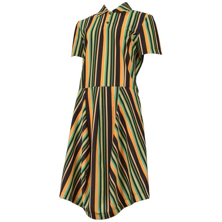 Comme des Garcons Stripe SS Polo Dress 1996