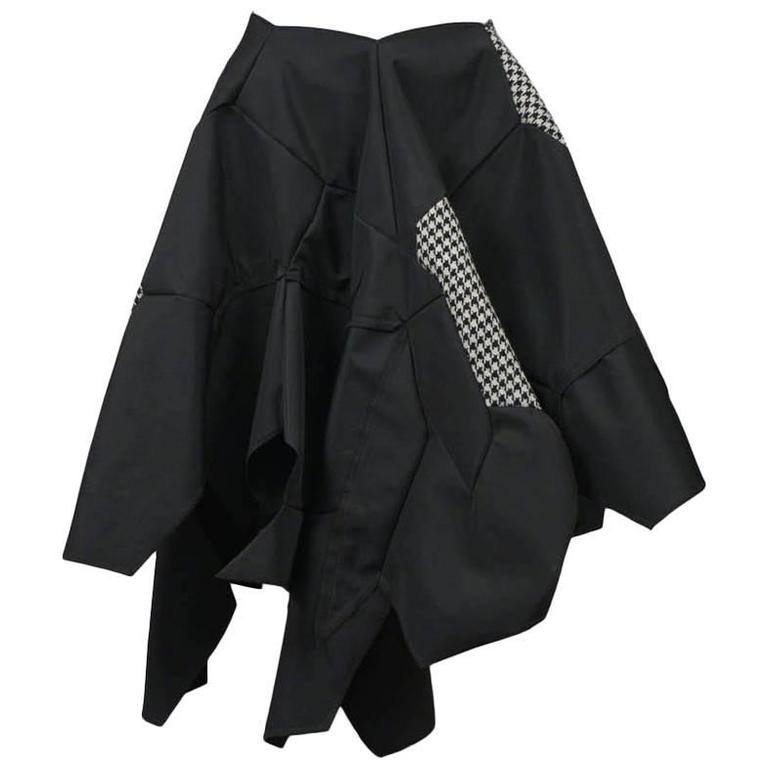 Comme des Garcons Black Check Football Skirt 2008