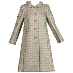 1960s Lillie Rubin Vintage Metallic Brocade Coat
