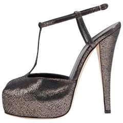 Giuseppe Zanotti NEW & SOLD OUT Crackle Peep Toe T-Strap Sandals Heels in Box