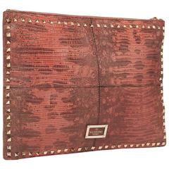 Valentino NEW & SOLD OUT Leather Envelope Fold Over Evening Clutch Bag