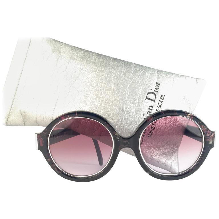 New Vintage Christian Dior 2446 50 Mosaic Blue Optyl Sunglasses
