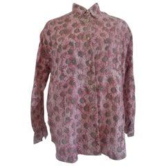 Moschino Pink Flower Cotton Shirt