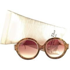 New Vintage Christian Dior 2446 20 Translucent Amber Optyl Sunglasses