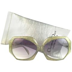 New Vintage Christian Dior 2025 60 Jaspe Green Jerry Hall Optyl Sunglasses