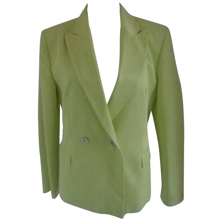 Versace light Green Cotton Jacket For Sale
