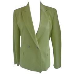 Versace light Green Cotton Jacket