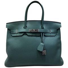 Hermes Malachite Togo Leather Birkin 35cm
