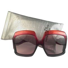 New Vintage Christian Dior D07 Red & Black 1970's Optyl Sunglasses