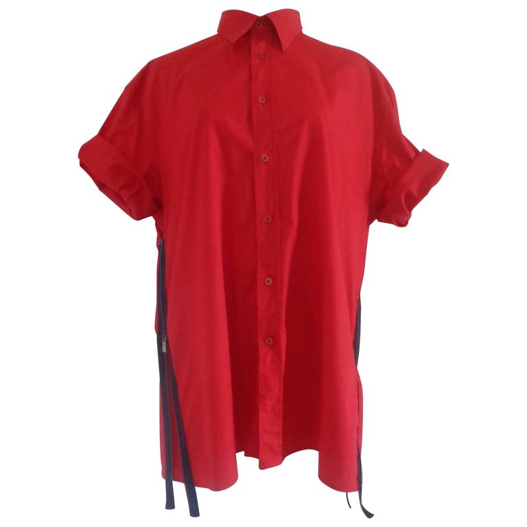 Moschino Red Cotton shirt For Sale